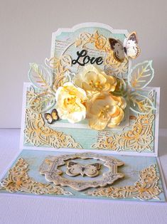 How to Make an Easel Card With Magnolia Lane Papers