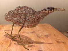 Bittern Wire Bird Sculpture by Paul Green