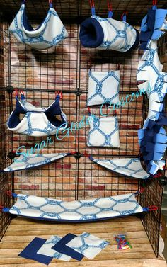 Check out this item in my Etsy shop https://www.etsy.com/listing/553374781/sailor-rope-13-piece-sugar-glider-cage