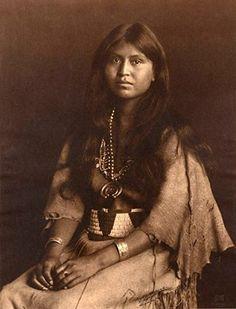 "Loti-kee-yah-tede. ""The Chief's Daughter."" Laguna Pueblo, New Mexico 1905 Photo by Carl E. Moon"
