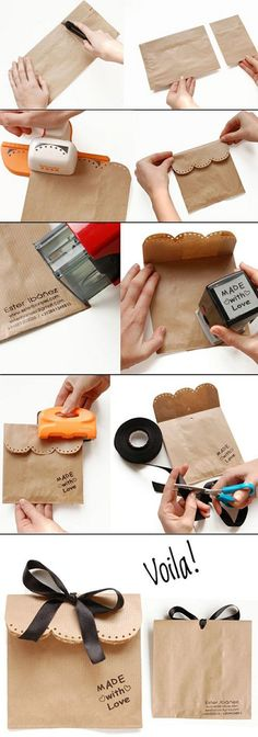 Envuelve tus regalos de Navidad con materiales reciclables