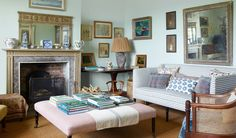 A fabulously pretty rectory on the edge of a Dorset village - living room furniture arrangement ideas Dorset Cottages, Dorset House, Cottage Living Rooms, Cottage Interiors, Living Room Decor, English Living Rooms, Garden Living, Cosy Home, English Decor