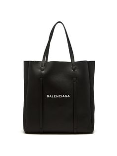 Balenciaga Small Everyday Calfskin Tote - Black In 1000 Black Fashion Handbags, Fashion Bags, Fashion Backpack, My Bags, Purses And Bags, Black Designer Bags, Balenciaga Tote, Prada, Leather Laptop Bag