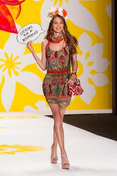 Desigual Collection presentation for Spring 2015 - New York Fashion Week - by Robert Essl - www.robertessl.com Spring 2015, New York Fashion, Peplum Dress, Presentation, Runway, Collections, Dresses, Cat Walk, Vestidos