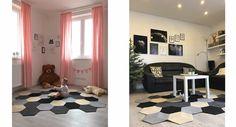 hexagonal modular rug carpet do it yourself, diy Rugs On Carpet, Carpets, 3 D, Kids Rugs, Flooring, Contemporary, Home Decor, Farmhouse Rugs, Rugs