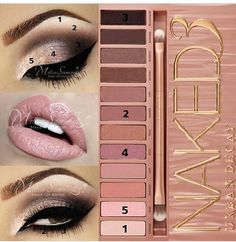 For when I dye my hair back to brown ;-) -- Beautiful pictorial using the Urban Decay Naked 3 palette