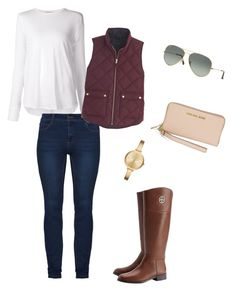 """""""Untitled #2"""" by emmi-plante on Polyvore featuring Michael Kors, Helmut Lang, Tory Burch, J.Crew and Ray-Ban"""