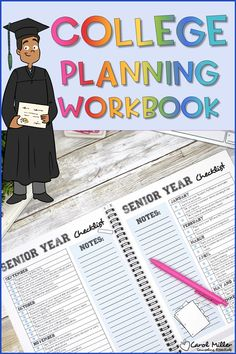 In this College Planning Guide for high school seniors, students will learn all about the college admission process and preparing for college applications. The College prep workbook is a step by step guide covering college applications, college search, financial aid, college testing and getting ready for college. Apply For College, College Test, High School Counseling, High School Seniors, College Search, College Planning, College Application, College Admission, Senior Year
