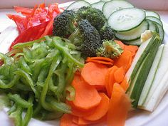 How To Slice A Plate Of Vegetables In 3 Minutes
