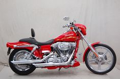Harley-Davidson : Dyna 2001 Harley Davidson FXDWG2 Wideglide Red With Flames P12684