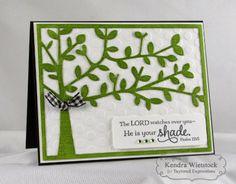 Shade Tree Sentiments & Cutting Plate Card by Kendra Wietstock #Faith, #Cardmaking, #CuttingPlates