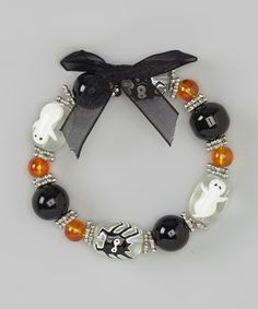 Take a look at this Black Ghost & Spider Beaded Bracelet & Earrings on zulily today!