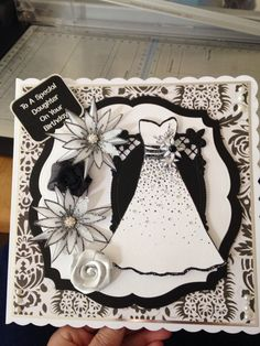 Female birthday card using 'chloes' dresss stamp