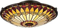 stained glass ceiling lights - Google Search