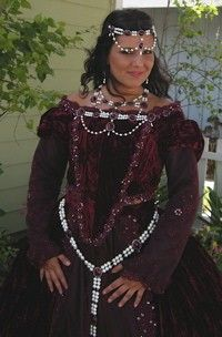 Tudor Medieval Full Jewelry Set Belt Bodice by RomanticThreads, $295.00