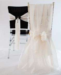 2016 One Pair Stylish Mr&Mrs Organza Crystals Chair Sashes Romantic Beautiful Chair Covers Cheap Custom Made Wedding Supplies Wedding Reception Chairs, Wedding Chair Sashes, Wedding Chair Decorations, Wedding Linens, Floral Wedding, Wedding Flowers, Cocktail Table Decor, Mr And Mrs Wedding, Deco Table