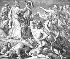 Bilder der Bibel - Die eherne Schlange - Julius Schnorr von Carolsfeld
