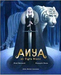 Anya et tigre blanc par Fred Bernard