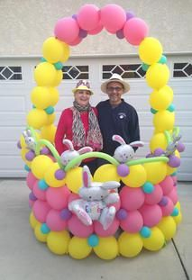 We make everyday extraordinary with balloons! Designing balloon decor for the Westside and LA since 1997 and bringing smiles to all your celebrations. Balloon Crafts, Balloon Decorations Party, Easter Bunny Decorations, Balloon Garland, Birthday Party Decorations, Eid Balloons, Party Photo Frame, Easter Party, Easter Crafts