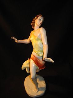 Porzellan Figur Tänzerin Liselotte Köster Rosenthal Modell Friedrich Gronau 39cm