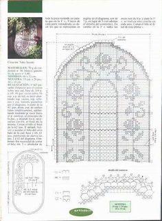 Manteles de ganchillo: Fotos de patrones y diseños - Camino de mesa de ganchillo, patrón para copiar