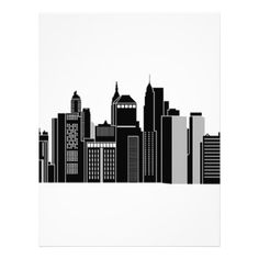 Pittsburgh Skyline Letterhead - drawing sketch design graphic draw personalize
