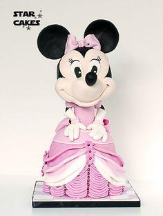 Tarta Minnie Mouse Síguenos en https://www.facebook.com/starcakes.es