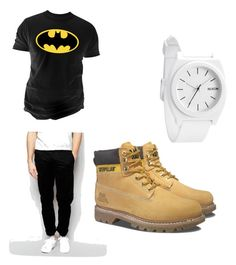 """""""Gabby son"""" by giaai on Polyvore featuring Nixon, Farah, Changes, Caterpillar, men's fashion and menswear"""