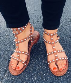 add32ef59 37 Best studded sandals images