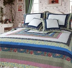 Shabby Cottage Chic patchwork quilt
