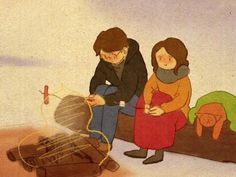 ♥ WINTER BONFIRE ~ A yummy way to keep warm & cozy outside ♥ by Puuung at youtube.com/watch?v=kcPmmsjxewY ♥