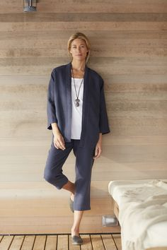 Pure Jill linen studio jacket