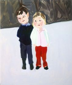 untitled work by Chantal Joffe (b. British--possesses a humorous eye for everyday awkwardness with insight and integrity (Victoria Miro) Chantal Joffe, Marlene Dumas, Art Archive, True Art, Love Painting, Op Art, Contemporary Paintings, Figurative Art, Abstract Expressionism