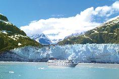 Small Ship Cruises ~ American Cruise Lines near Alaskan Glaciers