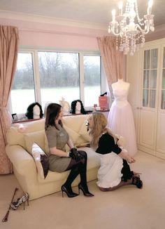 "feminization: ""So cute! Nylons, French Maid Dress, Dom And Subs, Maid Uniform, Female Supremacy, She Girl, Tgirls, Mistress, Crossdressers"