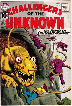 """Paperback Cover Poster 1977 Challengers of the Unknown Canvas Art 14/""""x24/"""""""