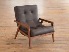 The Regina Lounge, made with domestic hardwood and leather. Phloem Studio by Benjamin Klebba