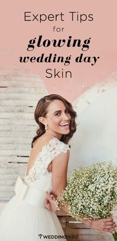 The secret to glowing skin begins way before your wedding day, but here are some crunch time tricks just in case. Wedding Prep, Wedding Advice, Wedding Planning Tips, Chic Wedding, Wedding Day, Wedding Bells, Wedding Stuff, Bridal Beauty, Wedding Beauty