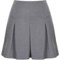 TOPSHOP Petite Jersey Kilt (€47) ❤ liked on Polyvore featuring skirts, bottoms, shorts, elastic waist skirt, petite skirts, grey pleated skirt, jersey skirt and gray skirt