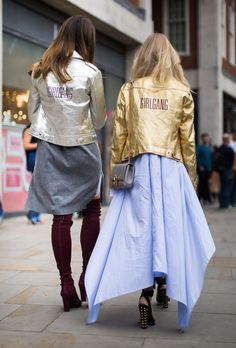 London Fashion Week Street Style Spring 2017: See All the Best Looks | StyleCaster