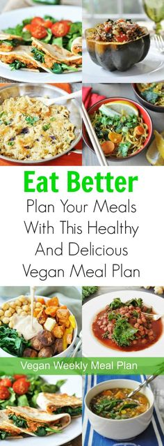 Dinner Planner A vegan meal plan to make your weeknight dinners healthy, easy, and quick!A vegan meal plan to make your weeknight dinners healthy, easy, and quick! Vegan Meal Plans, Vegan Meal Prep, Vegan Dinner Recipes, Vegan Dinners, Whole Food Recipes, Vegetarian Recipes, Cooking Recipes, Healthy Recipes, Vegetarian Cooking