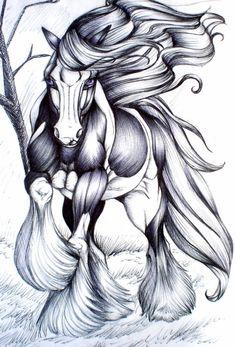 Irish Horse... by ~paleWOLF on deviantART