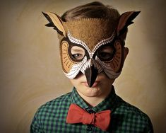 DIY owl Halloween mask pattern PDF. Wonderful!