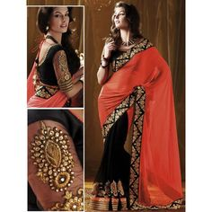 Sparkling Georgette Embroidered Festive Wear & Party Wear Saree at just Rs.899/- on www.vendorvilla.com. Cash on Delivery, Easy Returns, Lowest Price.
