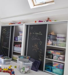 155 clever kids bedroom organization and tips ideas -page 5 Kids Bedroom Organization, Clever Kids, Painted Cupboards, Toy Rooms, Kid Spaces, Kids Furniture, Storage Spaces, Kids Room, Children Playroom
