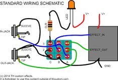 electrical wiring pleasant diy guitar pedal projects offboard rh pinterest com Guitar Wiring Diagrams 3 Pickups Humbucker Guitar Wiring Diagrams