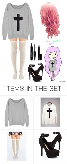 """""""Pastel Goth"""" by darkandfallenangel ❤ liked on Polyvore featuring art"""