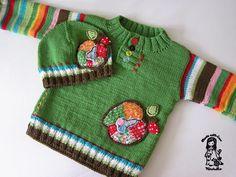 Pletený svetr pro děti - návod zdarma Knitting Baby Girl, Baby Knitting Patterns, Crochet Bebe, Knit Crochet, Dress With Cardigan, Baby Sweaters, Kids And Parenting, Baby Dolls, Christmas Sweaters