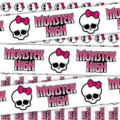 Decorations - Monster High Ribbon Digital Clip Art