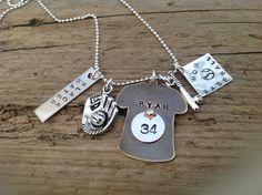 Baseball Mom / Grandma necklace sports fan by tagsoup on Etsy
